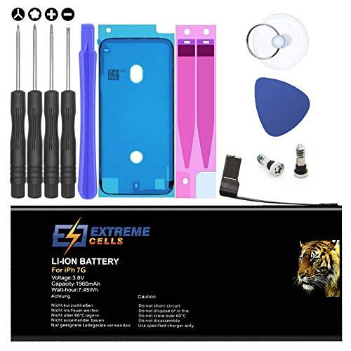 Extremecells Akku für iPhone 7 inkl. Werkzeug Set Ersatzakku Batterie