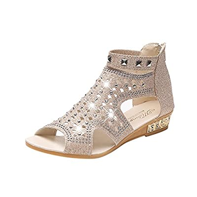 Highly Recommend Great Value Spring Summer Ladies Women Wedge Sandals Fashion Fish Mouth Hollow Roma Shoes Suitable for All Occasions