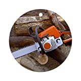 New Year Christmas Tree Decoration Chainsaw for Timber and Firewood Round Holiday Christmas Ornament