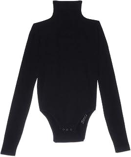 Carina High-Neck Long-Sleeve Snap-Closure Bodysuit for Women