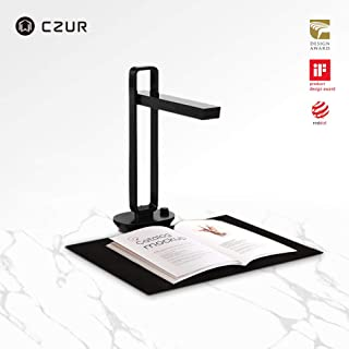 CZUR Aura Potatile Scanner Inteligente per Documento Libra, con Fotocamera 14MP, Compatibile con Win MacOS, Converte i Documenti in PDF, Word, Tiff, Excel, Lampada da Tavolo a Led Funzionale