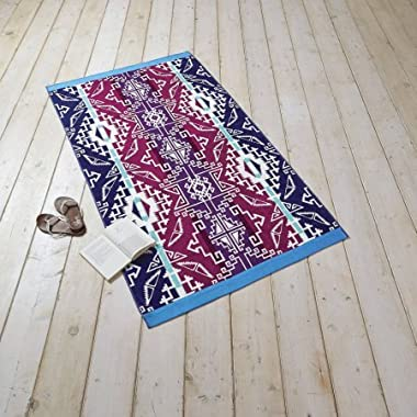 Better Homes and Gardens 40  x 72  Oversized Print Beach Towel,1 Piece (Southwest Purple)