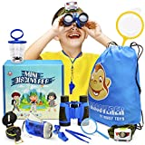 Outdoor Explorer Kit - Bug Catcher Kit for Kids & Binoculars for Kids - Great Gift for Boys & Girls - Best for 3, 4, 5, 6, 7, 8, 9 & 10 Year Old | Magnifying Glass, Flashlight, Compass, Butterfly Net
