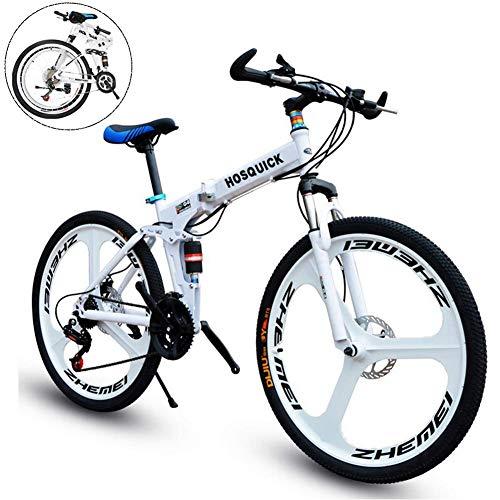 Alta qualità Bici di montagna pieghevole for uomini e donne, da 26 pollici in lega di alluminio integrato rotelle di bicicletta, doppio assorbimento di scossa, freni a disco, affare 1 ottiene 10 grati