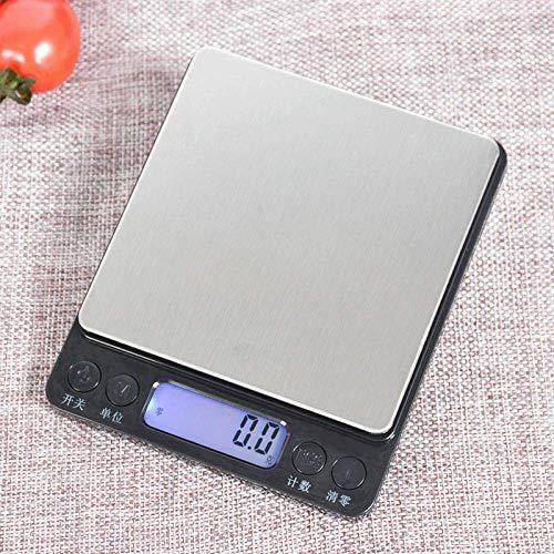 NC Báscula de Cocina, báscula Digital para Alimentos con Capacidad de Alta precisión, báscula de medición multifunción Digital, Carga 1 kg / 0,1 g