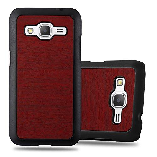Cadorabo Coque pour Samsung Galaxy Core Prime en Woody Rouge - Housse Protection Rigide en Plastique Dur avec Anti-Choc et Anti-Rayures - Ultra Slim Fin Hard Case Cover Bumper