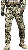 TRGPSG Men's Waterproof Hiking Pants,Scratch-Resistant Military Combat Tactical Pants,Outdoor Work BDU Cargo Pants Workwear WG4F CP Camo 38