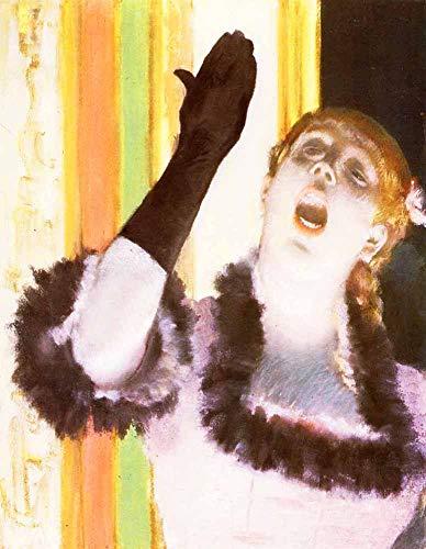 FAN C. Edgar Degas - Singer Café, Sänger Handschuh Leinwandbilder Reproduktionen Gerollte 45X60 cm - Figürlich Gemälde Gedruckt Wandkunst