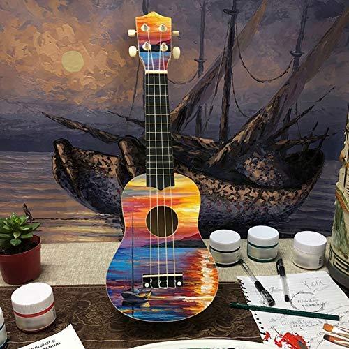DIY Ukulele Kit Make Your Own Concert Ukulele 21in Soprano Hawaii Ukulele Kit with Installation Tools