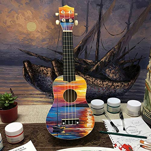 DIY Ukulele Kit Make Your Own Concert Ukulele 21in Soprano Hawaii Ukulele Kit with Installation Tools