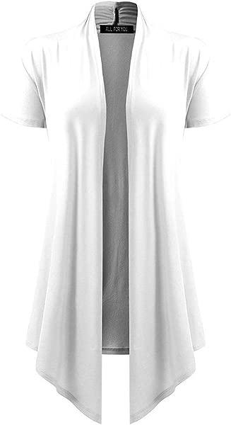 Vintress Long Cardigans For Women Soft Drape Cardigan Short Sleeve Smock Sun Wear Top Blouses