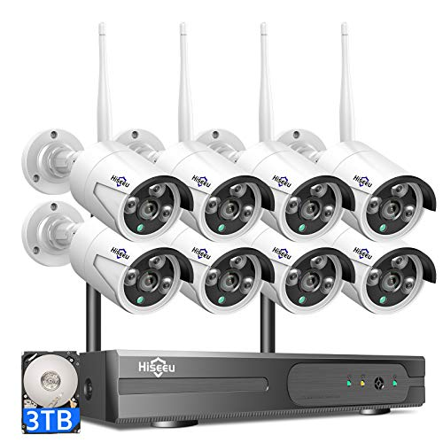 Hiseeu Wireless Security Camera System with 8 Channels
