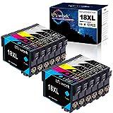 Uniwork 18XL Cartuchos de tinta Reemplazo para Epson 18 18 XL Compatible con Epson Expression Home XP-322 XP-215 XP-205 XP-225 XP-305 XP-325 XP-422 XP-405 XP-415 XP-425 XP-315 XP-312
