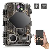 """TOGUARD 4K Trail Camera 24MP Game Camera WiFi Bluetooth Hunting Camera with 3 Infrared Sensors 120°Wide Angle Night Vision Motion Activated Waterproof IP66 2.4""""LCD for Wildlife Monitoring"""