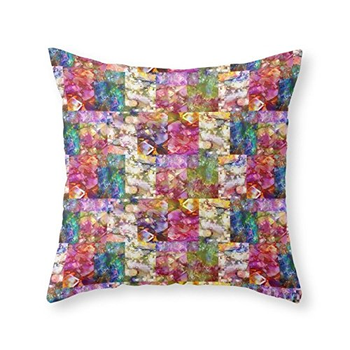 Funy Decor Rose Jeweled Throw Pillow Indoor Cover Pillow Case 18x18 Inch