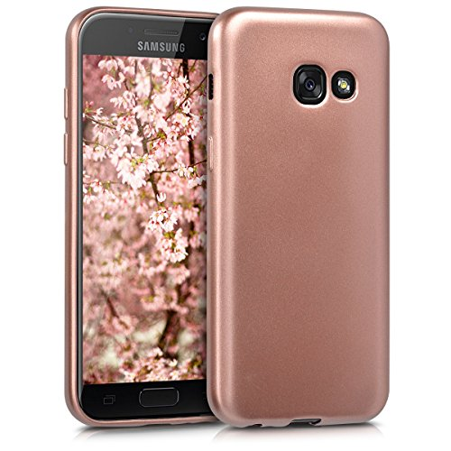 kwmobile Hülle kompatibel mit Samsung Galaxy A3 (2017) - Handy Case Metallic Rosegold