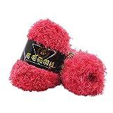 RWEAONT 50 g/Set Largo Peluche Mink Fino Calidad Hilo Punto Mano Súper Suave Crochet Hilo de Hilo Grueso para Cardigan Scarf Costura (Color : C)