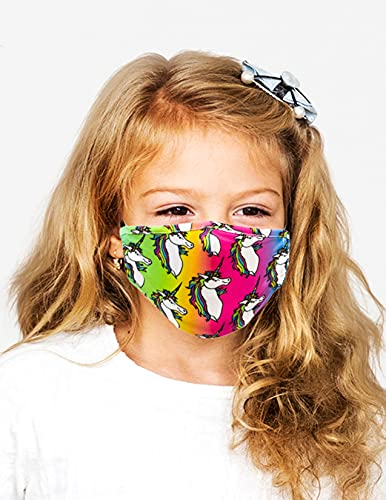 FYDELITY-Face Mask KIDS-CHILD Breathable Adjustable Comfortable Reusable Fabric Unicorn