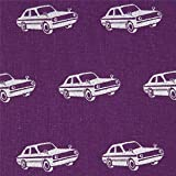 Lila Wachstuch mit silbernen Autos von echino