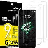 NEW'C Lot de 3, Verre Trempé Compatible avec Xiaomi Black Shark 3, Film Protection écran Ultra Résistant (0,33mm HD Ultra Transparent) Dureté 9H Glass