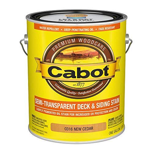 Cabot 140.0000316.007 Semi-Transparent Deck & Siding Stain