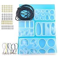 EXCEART 1セットシリコーン樹脂金型アイランドエポキシ樹脂ペンダントモールドジュエリーネックレス作りdiyクラフト