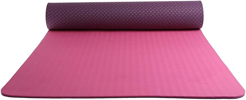 Aihifly Umweltfreundliche übungsmatte PE Yoga-Matte Rutschfeste Oberflche 6 mm dick mit hoher Dichte gefüllt perfektes Pilates und Fitness Workouts für Mnner und Frauen
