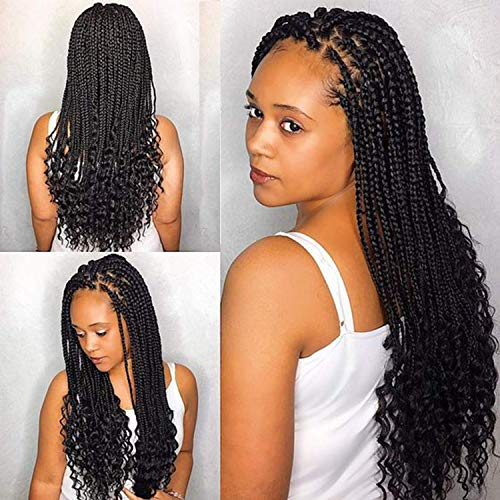 UNA Box Braids Crochet Hair Extensions Synthetic Hair Crochet Braids...