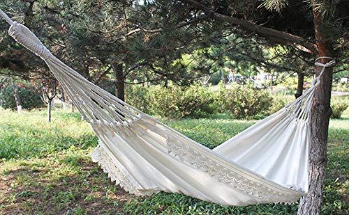 Zooma Hängematte Tragbar Haengematte Tuchhängematte, Portabel Camping Hängematte, belastbar bis 300 kg für Backpacker Camping Jagen Strand Hof (Einheitsgröße, Weiß)