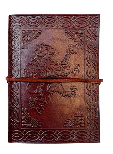 Celtic Lion Leather Journal notebooks Embossed Book Vintage Witches Fantasy Spell Women Dream Shadow Incredible Travel Writing Bound Classic journals Diary for Work 7x5 inch