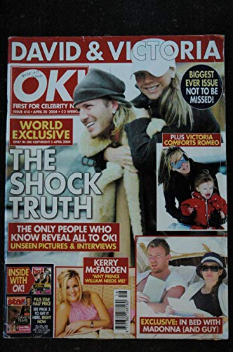 OK ! First for Celebrity News - World Exclusive 2004 Madonna Cover + 4 p. David & Victoria