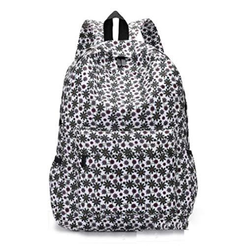 LIXIN - Mochila escolar femenina para niña, nailon, diseño floral, bolsa de viaje, bolsa de viaje, bolsa de viaje, senderismo, viajes, bolsa al aire libre, Z1.