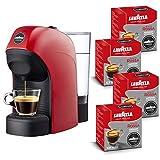 Lavazza A Modo Mio, Macchina Caffé Espresso Tiny Con 64 Capsule Qualità Rossa Incluse, Macchinetta A Capsule Per Un Caffè A Casa Come Al Bar, 1450 W, 0.75 Litri, Colore Rosso