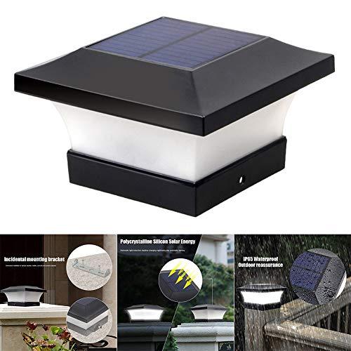 qwertyu Solar Wasserdicht LED Dekoration Kappe Lichter Außen Säule Scheinwerfer Säule Zaunpfahl Lichter Decoration