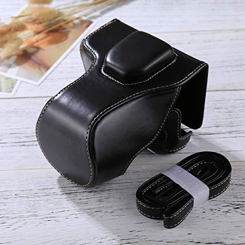 Consumer YHM Ganzkörperkamera PU-Ledertasche mit Riemen für FUJIFILM XT10 / XT20 (16-50mm / 18-55mm) (Schwarz) (Color : Black)
