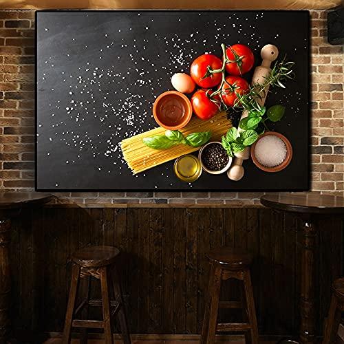 Verduras Granos Especias Cocina Comida Lienzo Pintura Arte de la pared Imágenes Pintura Arte de la pared para la decoración del hogar de la sala de estar (Sin marco) 40x50cm