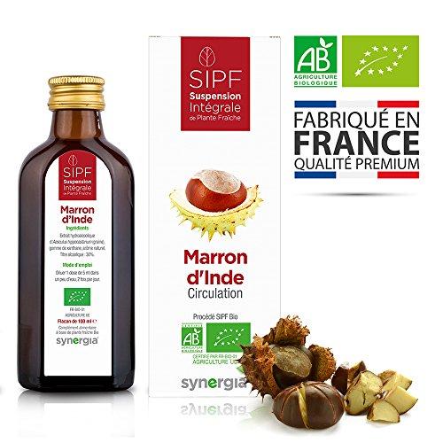 Marron d'Inde bio français Solution buvable de plantes fraîches Circulation Origine France certifiée Certifié AB