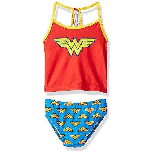 Wonder Woman Superhero Girls Tankini Swimwear Swimsuit Bathing Suit 4