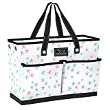 SCOUT BJ Bag, Large Tote Bag with 4 Exterior Pockets & Interior Zippered Compartment, Lightweight Utility Tote Bag for Teachers and Nurses in Soap Star Pattern (Multiple Patterns Available)