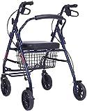 Z-SEAT Andador con Ruedas, Andador con Ruedas de Postura Vertical, Aluminio súper Ligero, Andador con Andador portátil de Movilidad con 4 Ruedas para Personas Mayores