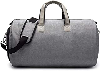 Carry On Garment Bag On Sale,Suit Travel Bag, Large Dream Duffels, 2 In 1 Hanging Suitcase, Weekend Bag Flight Bag With1 Shoe Pockets+3 Inner Spacious Pockets+1 Outer Pockets+ Handles (Grey)