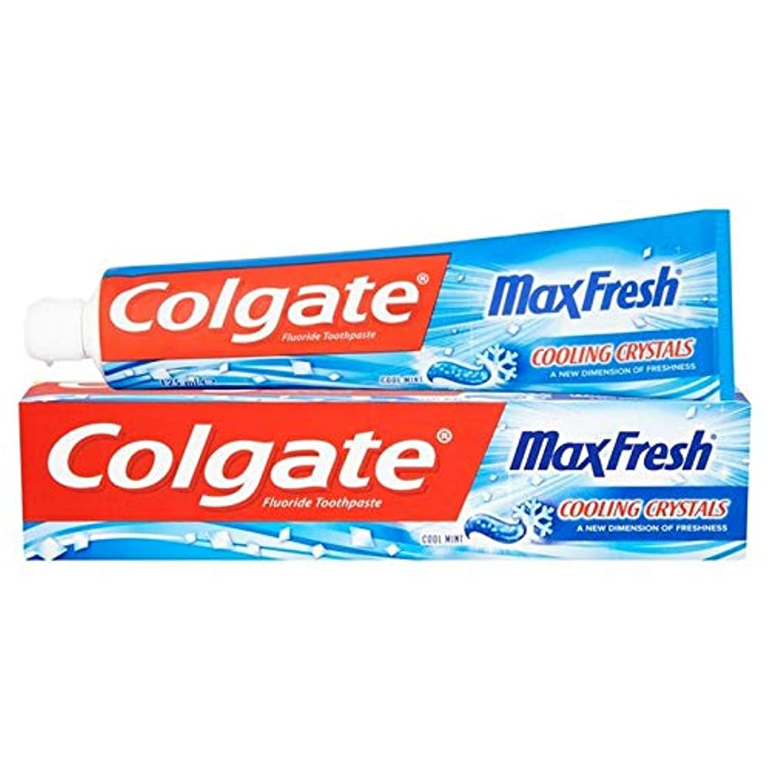 有益なコミュニティホイール[Colgate ] 冷却結晶歯磨き粉の125ミリリットル新鮮なコルゲートマックス - Colgate Max Fresh with Cooling Crystals Toothpaste 125ml [並行輸入品]