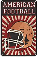 ラグビースポーツメタルティンサインレトロポップホームキッチンハンギングアートワークプラークウォールアート装飾ヴィンテージサインギフト8インチX12インチ(20cm X 30cm) メタルプレートブリキ 看板 2枚セットアンティークレトロ