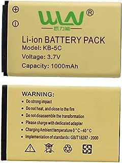 Battery for WLN KD-C1 AP-100 Retevis RT22 Zastone X6 NKTECH NK-U1 Zeadio ZS-B1 LUITON LT-316 TIDRADIO TD-M8 RADTEL RT-10 (2Pack)