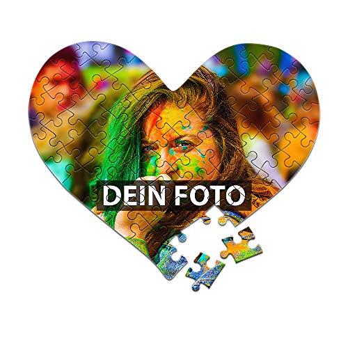 Foto-Puzzle 24 - 1000 Teile / inkl. Verpackung / mit eigenem Bild Bedrucken Lassen - Herzpuzzle 63 Teile - Kartonverpackung