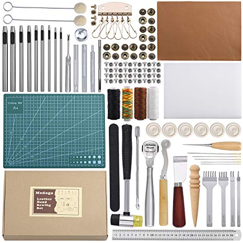 Herramientas de trabajo de cuero 44 piezas Kit de herramientas de artesanía de cuero