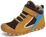 Zapatillas de Trekking Niña Zapatos de Senderismo Niñas Zapatos Deportivos Cómodo Transpirable Antideslizante Montaña Al Aire Libre Amarillo 26