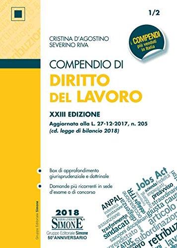Compendio di diritto del lavoro by Cristina D'Agostino