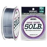 VARIVAS(バリバス) ショックリーダー ナイロン 50m 14号 50lb ミストグレー