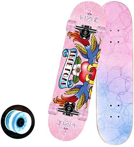 LINGZHI Tricks Skate-Brett Brush Street Cruiser Freestyle Longboard Complete Skateboard 31 X 7.5 Zoll for Jugendliche Anfänger Mädchen Jungen Kinder Teens Erwachsene (Color : #3)
